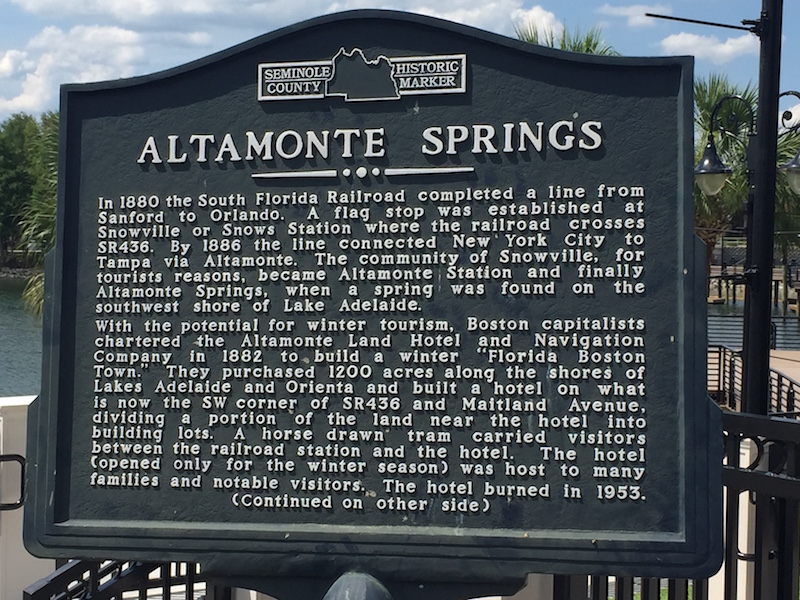 Historic Altamonte Springs FL Sign